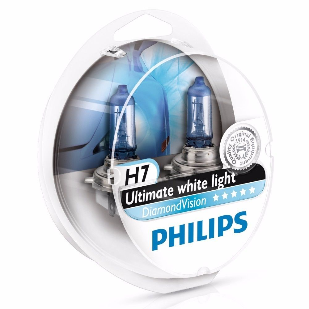 philips h7 diamond vision 5000k 12972dvs2 halogen lamps avaparts. Black Bedroom Furniture Sets. Home Design Ideas